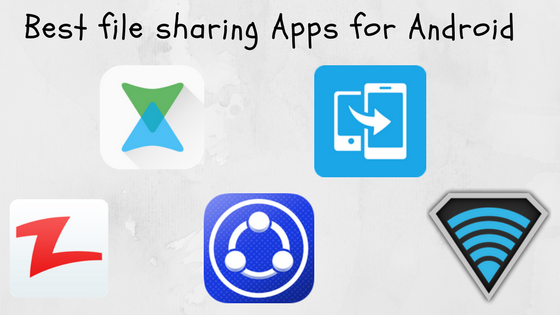 Top 5 File Sharing Apps For Android Infographic Techlustt