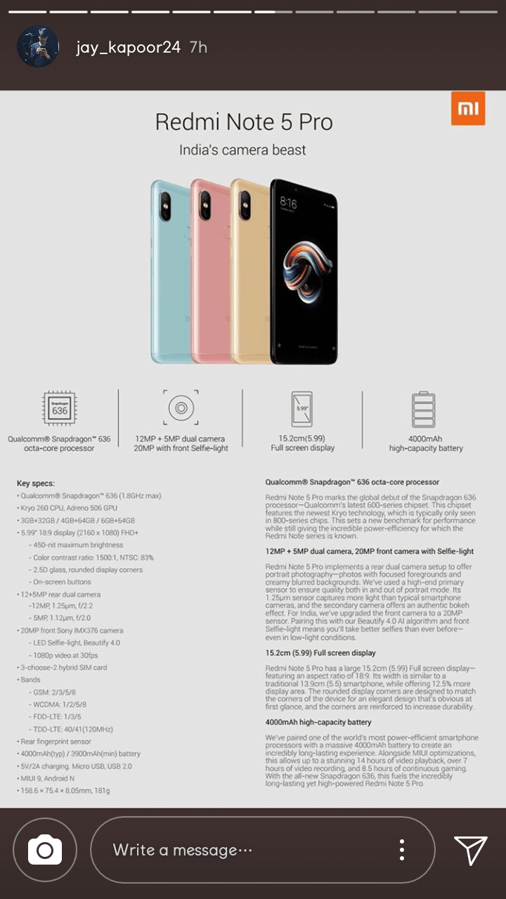 Rredmi Note 5