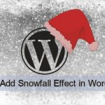 How to Add Snowfall Effect on a WordPress Website