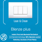 "Honeywell introduces the 1st ever antibacterial flat switch in India with ""Bacti-safe"" technology."