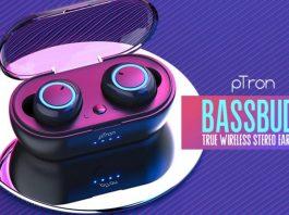PTron Bassbuds True Wireless Earbuds (TWS), Bluetooth 5.0, Hi-Fi Sound, 3 Hours Music Time